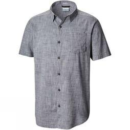 Columbia Mens Under Exposure Yarn Dye Short Sleeve Shirt Graphite Chambrey