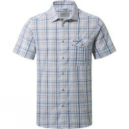 Craghoppers Mens Westlake Short-Sleeved Shirt Deep Blue Combo