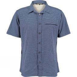 Ayacucho Mens Hiker II Stretch Short Sleeve Shirt Navy Check