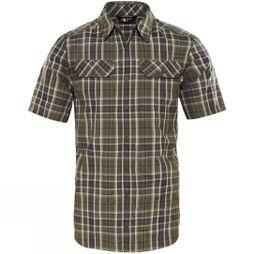 The North Face Mens Pine Knot Shirt New Taupe Green Plaid
