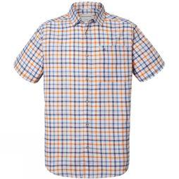 Craghoppers Mens Holbrook Short Sleeve Shirt Ombre Blue
