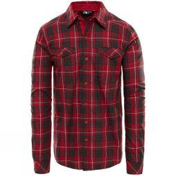 The North Face Mens Long Sleeve Lodge Shirt Rumba Red Plaid