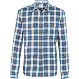 Fjallraven Mens Singi Long Sleeve Flannel Shirt Uncle Blue