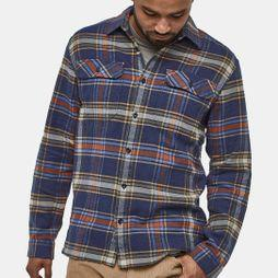 Patagonia Mens Long-Sleeved Fjord Flannel Shirt Defender:Neo Navy
