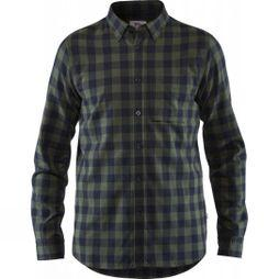 Fjallraven Mens Övik Check Long Sleeve Shirt Deep Forest