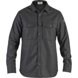 Fjallraven Mens Övik Re-Wool Long Sleeve Shirt Dark Grey