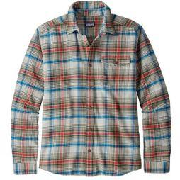 Patagonia Mens Long Sleeved Lightweight Fjord Flannel Shirt Rozman : Tailored Grey