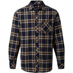 Craghoppers Men's Cogwheel Long Sleeve Shirt Blue Navy Check