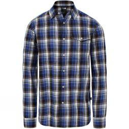 The North Face Men's L/S Ostrander Plaid Shirt TNF Blue Uber Plaid