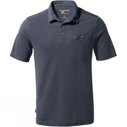 Craghoppers Mens NosiLife Gilles Short Sleeve Polo Ombre Blue
