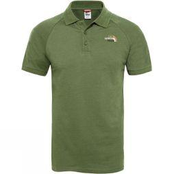 The North Face Mens Raglan Jersey Polo Garden Green