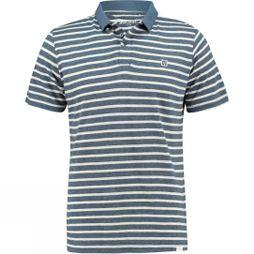 Ayacucho Mens Rum Polo NAVY NATURAL STRIPE