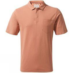 Craghoppers Mens Meran Short Sleeve Polo Red Ochre