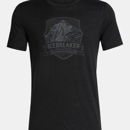 Icebreaker Mens Tech Lite SS Crewe Everest Crest Black