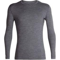 Icebreaker Mens 200 Oasis Long Sleeve Crewe Top Gritstone Heather