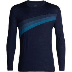 Icebreaker Mens Spector Long Sleeve Crewe Top Midnight Navy