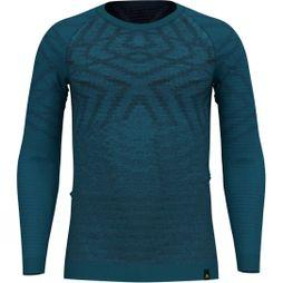 Mens Natural + Kinship Long Sleeve Crew Top