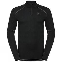 Odlo Mens Active X-Warm 1/2 Zip Turtle-Neck Long-Sleeve Base Layer Top Black