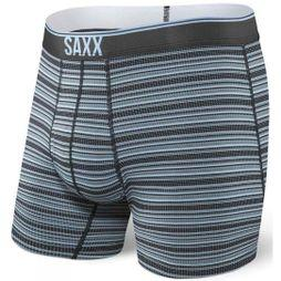 Saxx Mens Quest 2.0 Boxers Black Daybreak Stripe