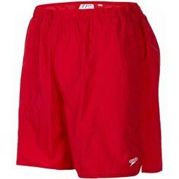 Speedo Mens Solid Leisure 16in Watershorts Fed Red