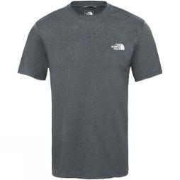 The North Face Men Reaxion Amp Crew T-Shirt TNF Dark Grey Heather/High Rise Grey