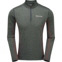 Montane Mens Dart Zip Neck Tee Shadow