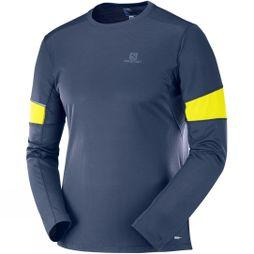Salomon Mens Agile Long Sleeve T-Shirt Night Sky