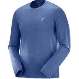 Salomon Mens Pulse Long Sleeve Tee Medieval Blue