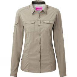 Craghoppers Womens NosiLife Adventure Long Sleeve Shirt Mushroom