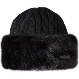 Barts Womens Fur Cable Bandhat Black