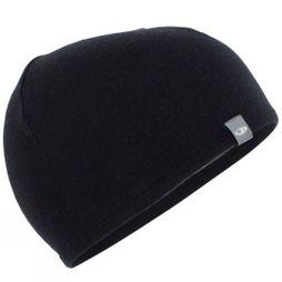 Icebreaker Pocket 200 Hat Black/Gritstone Heather