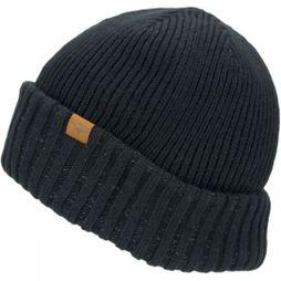 SealSkinz Men's Waterproof Cold Weather Roll Cuff Beanie Black