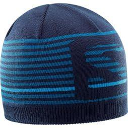 Salomon Mens Flat Spin Short Beanie NIGHT SKY/MOROCCAN BLUE/HAWAIIN SURF
