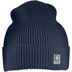 Fjallraven Mens Greenland Cotton Beanie Dark Navy