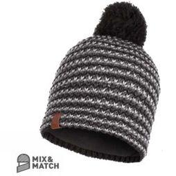 Mens Dana Knitted and Polar Fleece Hat