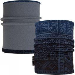 Buff Mens Reversible Polar Neckwarmer Eskor Perfuse Blue/ Flint