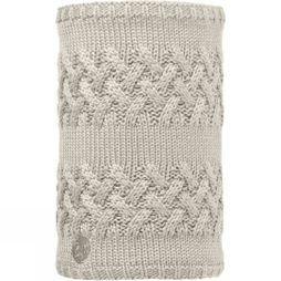 Buff Knitted and Polar Fleece Neckwarmer Plain Savva Cream / Grey Vigore