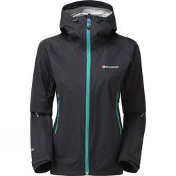 Montane Womens Atomic Jacket Black/Siberian Green