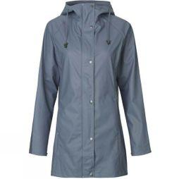 Ilse Jacobsen Womens Rain87 Rain Coat Blue Grayness
