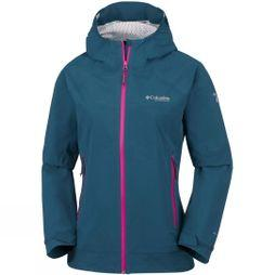 Columbia Womens Trail Magic  Shell Petrol Blue, Haute Pink