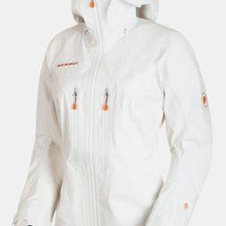Mammut Womens Nordwand Advanced HS Hooded Jacket Bright White