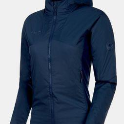 Mammut Womens Rime Light IN Flex Hooded Jacket Peacoat