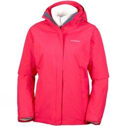 Columbia Womens Venture On Interchange 3-in-1 Jacket Red Camellia
