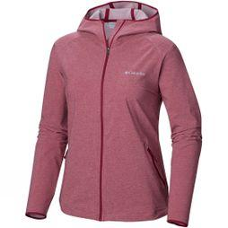 Columbia Womens Heather Canyon Softshell Jacket Wine Berry Heat