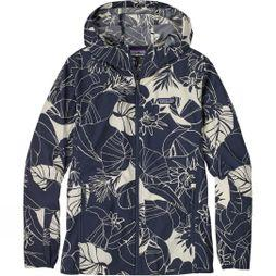 Patagonia Womens Bajadas Hoodie Valley Flora: Classic Navy/Birch White