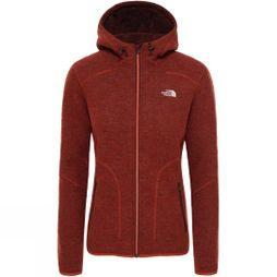 The North Face Womens Zermatt Full Zip Hoodie Picante Red Dark Heather