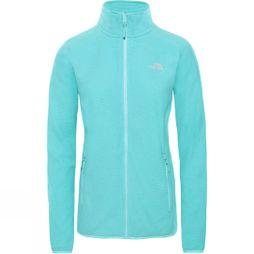 The North Face Womens 100 Glacier Full Zip Fleece Mint Blue Stripe