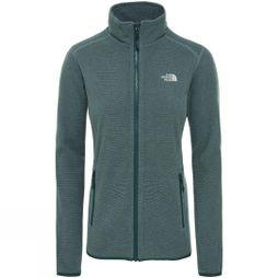 The North Face Womens 100 Glacier Full Zip Fleece Ponderosa Green/Trellis Greenn