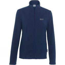 Jack Wolfskin Womens Tokee Fleece Jacket Midnight Blue/Grey Haze