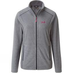Jack Wolfskin Womens Elkstone Fleece Jacket Ebony/Light Grey/Pink Pops